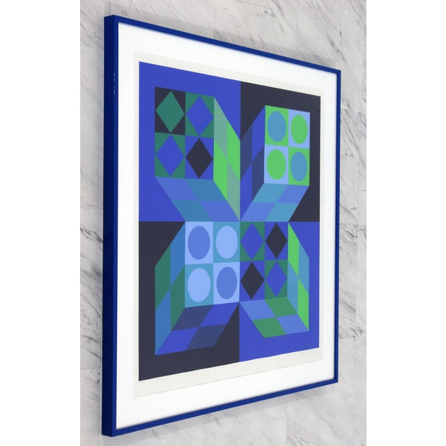 For your consideration is an Op Art lithograph print by Victor Vasarely, signed and numbered 155/262. In excellent...