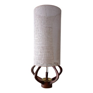 Mid Century Modern Adrian Pearsall Style Walnut Lamp by Modeline For Sale