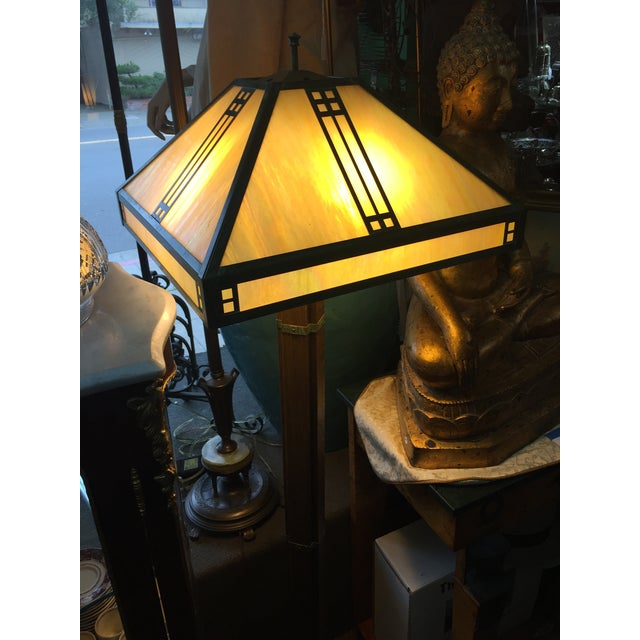 Glass Arts Crafts Floor Lamp by Warren Hile For Sale - Image 7 of 11