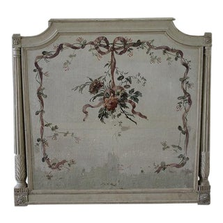 19th Century French Louis XVI Hand-Painted Plaque or Headboard For Sale