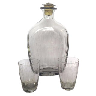 Danish Modern Schnapps Decanter and Glasses For Sale