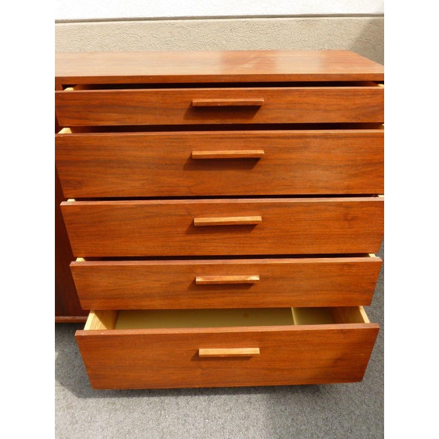 1960's Mid-Century Danish Modern Architectural Bachelors Chest For Sale In Miami - Image 6 of 10