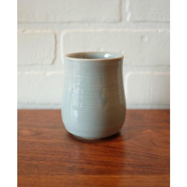 Ceramic Handmade Baby Blue Studio Pottery Ceramic Vessel For Sale - Image 7 of 7