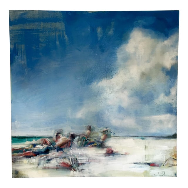 Teil Duncan Original Beach Scene Painting - Image 1 of 5