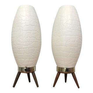Vintage Mid-Century Modern Beehive Lamp- A Pair