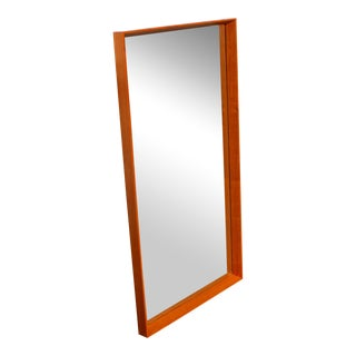 Large Danish Teak Mirror by Pedersen & Hansen