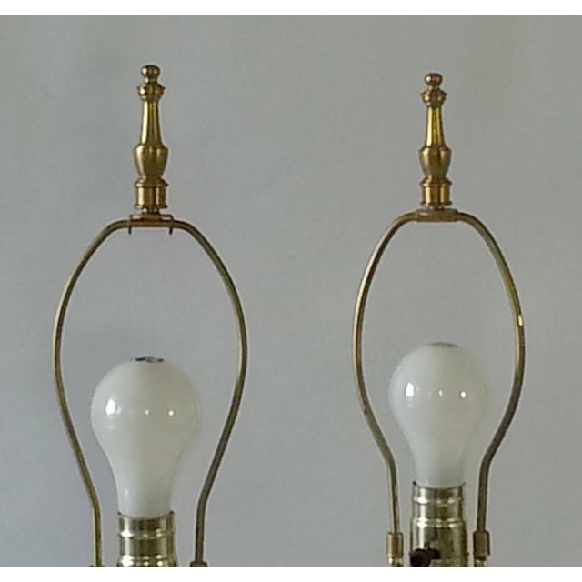 Mid-Century Table Lamps Eglomise Style - Image 8 of 11