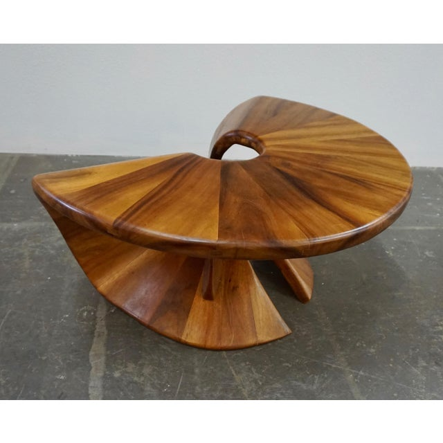 Laminated Walnut Coffee / Side Table For Sale - Image 10 of 11