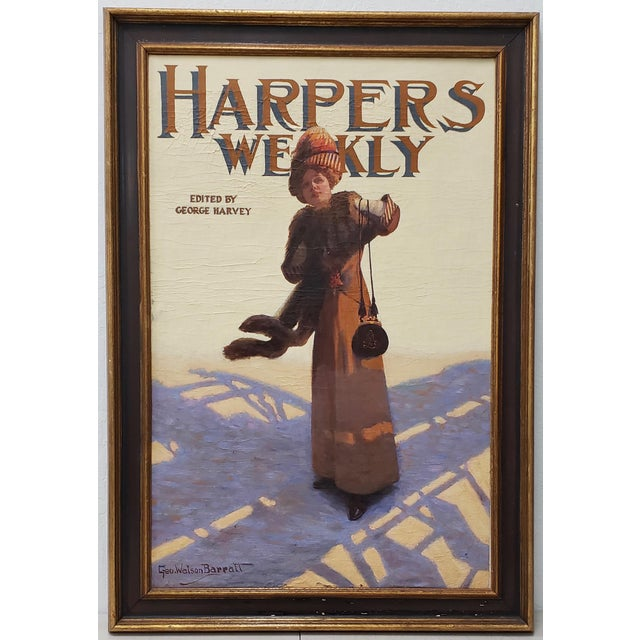 "George Watson Barratt (American, 1884-1962) ""Harpers Weekly"" Original Illustration C.1912 For Sale - Image 9 of 11"
