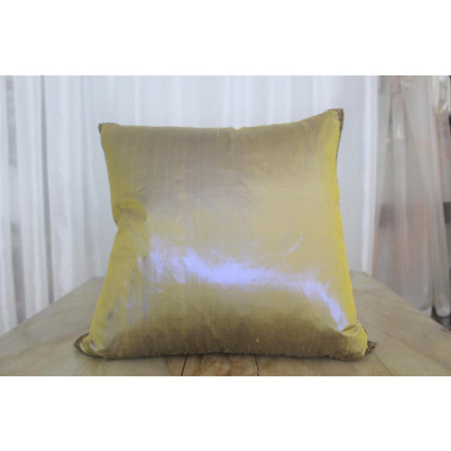 Isabelle H. Dual Color Metallic Silk Pillow - Image 2 of 7
