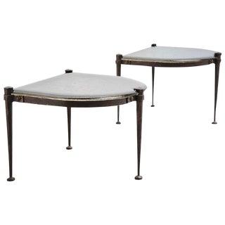 Lothar Klute Brutalist Side Tables, Germany, 1970 For Sale