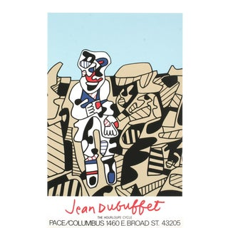 """Jean Dubuffet Inspection of the Territory 33.5"""" X 23.5"""" Serigraph 1974 Outsider Art Brown For Sale"""
