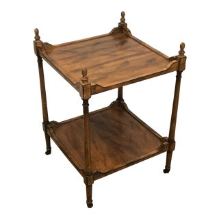 Regency Style Wood Side Table on Casters For Sale