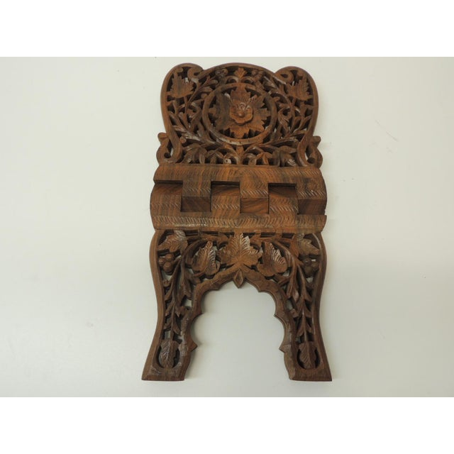 Indian Hand Carved Book Display or Stand For Sale - Image 4 of 6