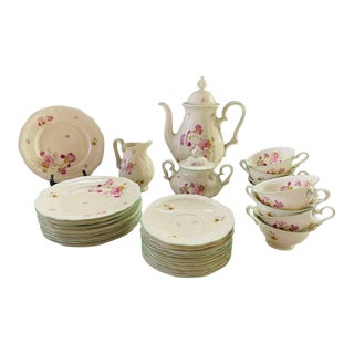 Rosenthal Germany Continental Chippendale 1930's Coffee Set, 29 Piece For Sale