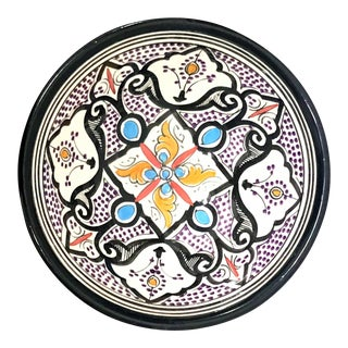 Moroccan Hand-Painted Small Multicolored Bowl For Sale