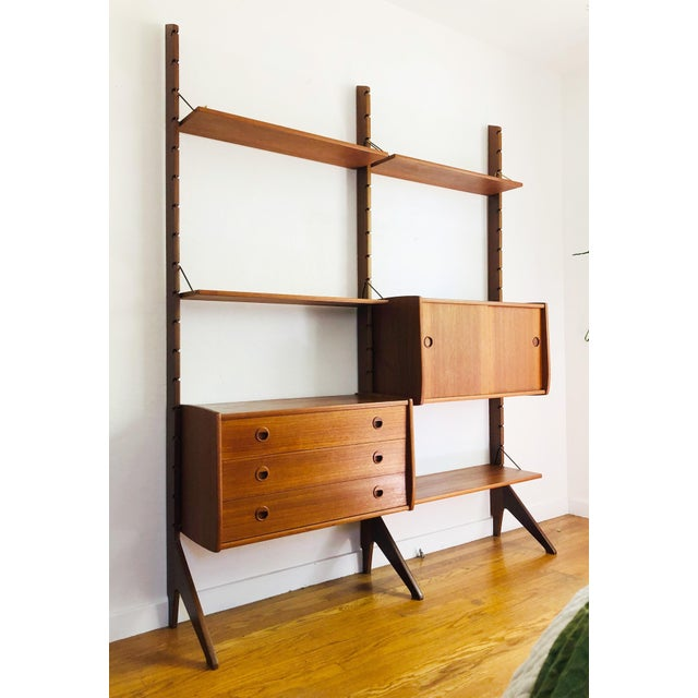 Mid Century Teak Free Standing Wall Unit by Blindheim Møbelfabrikk For Sale - Image 13 of 13