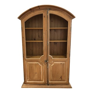 Custom Pine Wood Arched Storage Cabinet For Sale