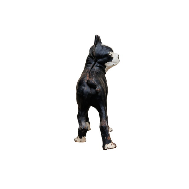 Early 20th Century Cast Iron French Bulldog Doorstop For Sale - Image 5 of 8