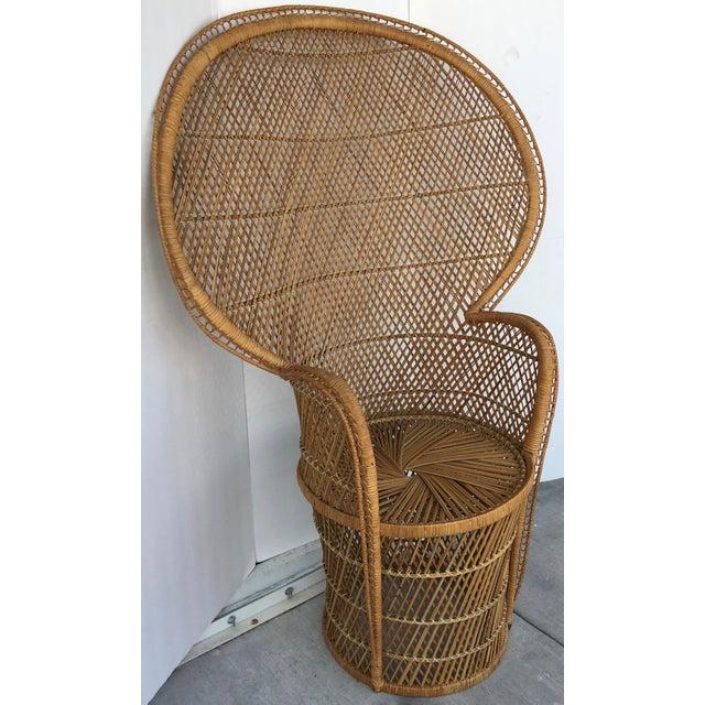Vintage Rattan Peacock Chair - Image 4 of 8