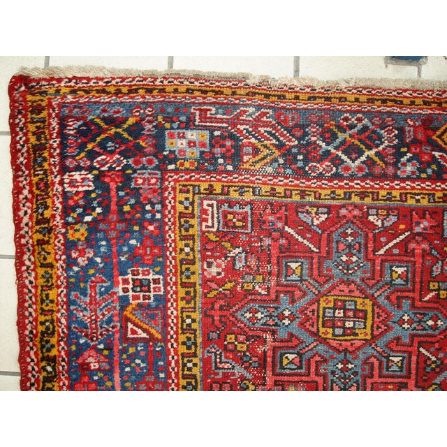 1920s Handmade Antique Persian Karajeh Runner - 3.5' X 10.8' - Image 8 of 10