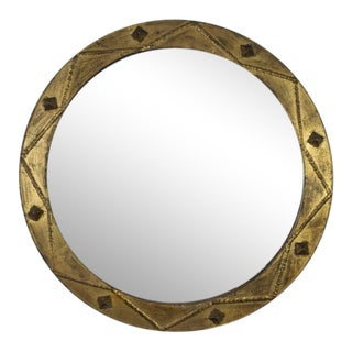 1940s Vintage Spanish Gilt Iron Mirror For Sale