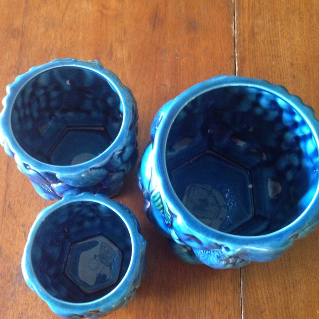 Inarco Japanese Pottery Planters - Set of 3 For Sale - Image 5 of 11
