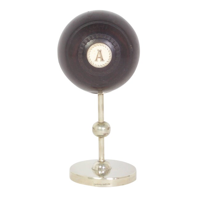 Antony Redmile Mounted Lawn Bowling Ball For Sale