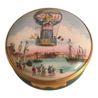 Halcyon Days Hot Air Balloon Enamel Box For Sale