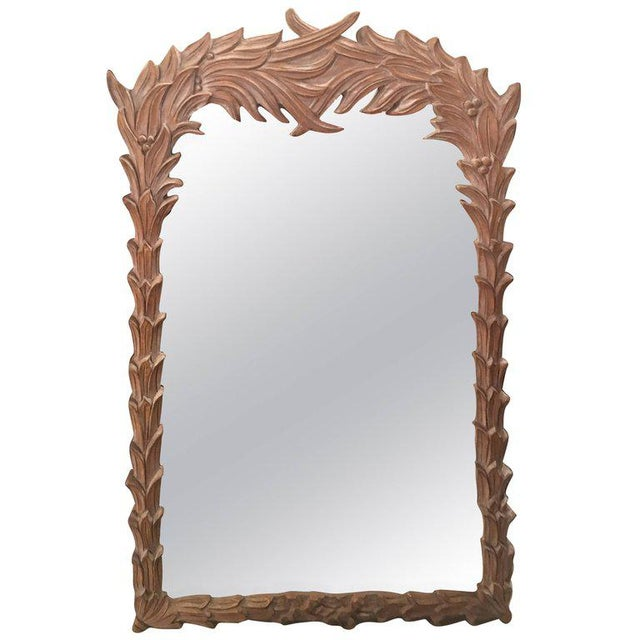 Vintage Palm Frond Wall Mirror - Image 9 of 9