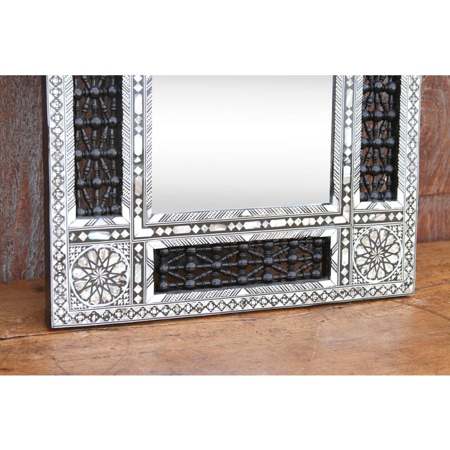 Beautiful Mother of Pearl Syrian Mirror For Sale - Image 4 of 8