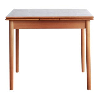 20th Century Danish Modern Teak Draw-Leaf Dining Table For Sale