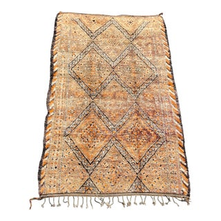 1970s Large Moroccan Beni Ourain Rug- 7′10″ × 14′1″ For Sale