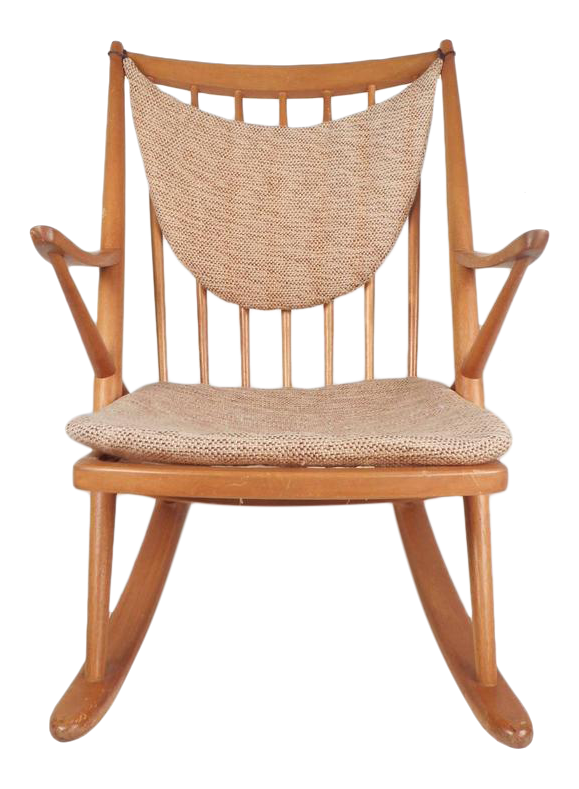 Frank Reenskaug For Brahmin Mobler Danish Modern Rocking Chair