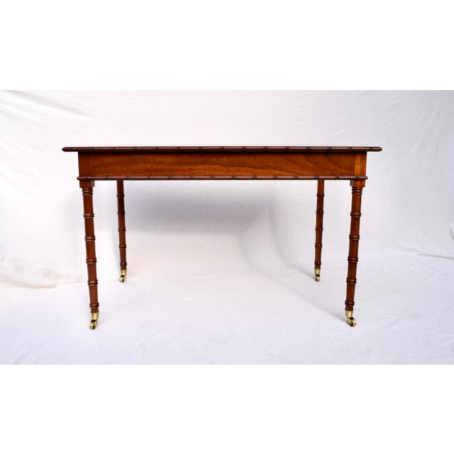 Regency Faux Bamboo Writing Desk For Sale - Image 9 of 11