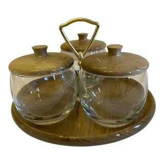 House of Myrtlewood Condiment Caddy - Set of 7 For Sale