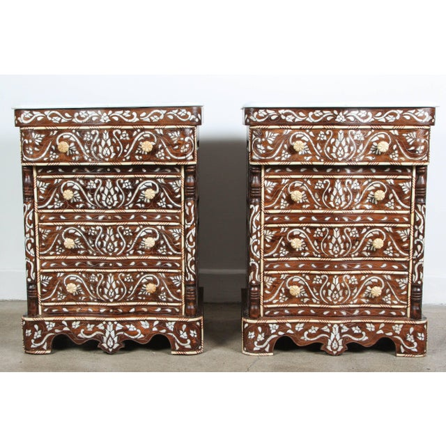 Pair of Syrian Mother-Of-Pearl Inlay Nightstands For Sale - Image 10 of 10