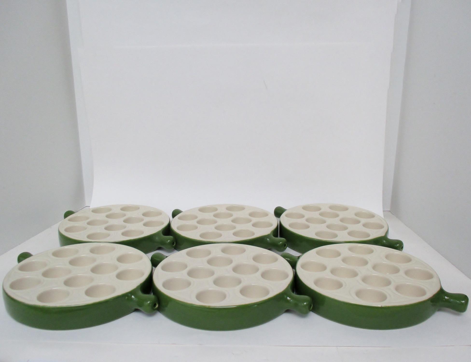 Emile Henry Escargot Dishes - Set of 6 - Image 5 of 8  sc 1 st  Chairish & Emile Henry Escargot Dishes - Set of 6 | Chairish