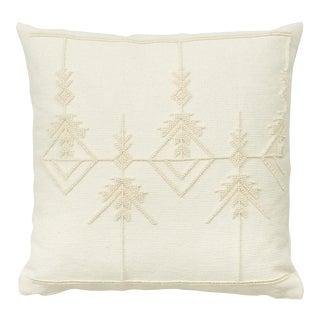 "Schumacher Artiganale Italian Hand Woven Wool White 23"" Floor Pillow For Sale"