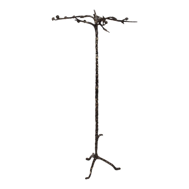 Mid-Century Modern Bronze Coat Rack After Giamcometti For Sale