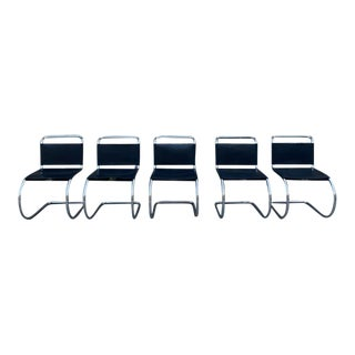 Vintage Mies Van Der Rohe Cantilever Dining Chairs - Set of 4 For Sale