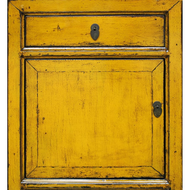 Yellow Side Chests - Pair - Image 5 of 6