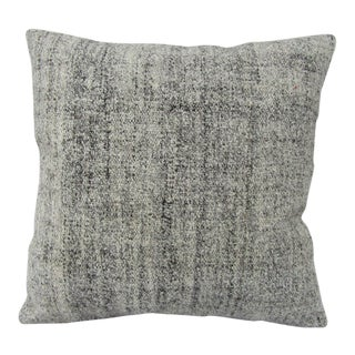 Turkish Gray Vintage Kilim Pillow Cover For Sale