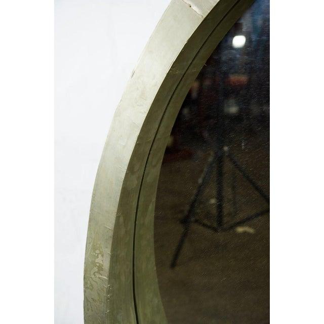 Mid-Century Modern Mid-Century Modern Round Mantle Mirror For Sale - Image 3 of 9