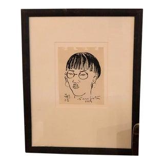 Original Brush and Ink Drawing by Tsuguharu Foujita For Sale