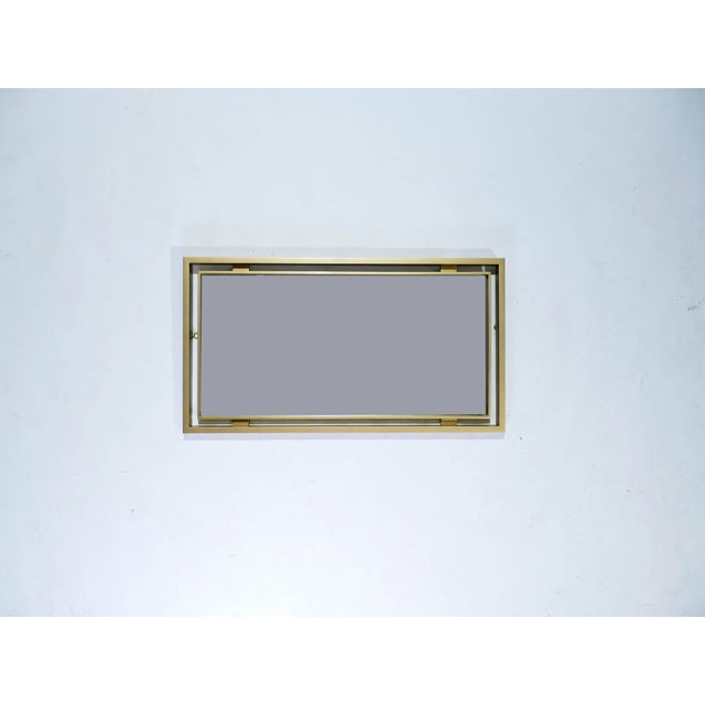 Mid-Century Modern Brass Mirror by Guy Lefevre for Maison Jansen, 1970s For Sale - Image 3 of 7