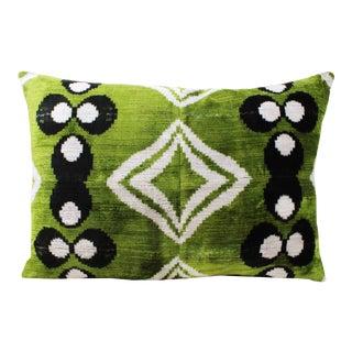 Oversize Reversible Silk Velvet Chintamani Pillow For Sale