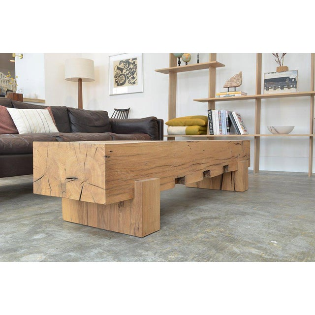 Not Yet Made - Made To Order Ozshop Antique Oak Beam Coffee Table For Sale - Image 5 of 5
