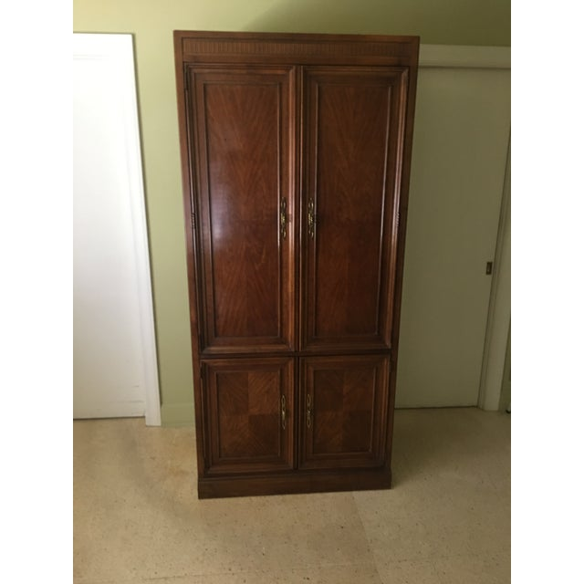 Burnt Umber 1980s Drexel Traditional Cabinet For Sale - Image 8 of 8