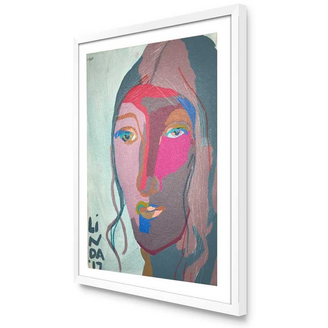"""Abstract Contemporary Abstract Portrait Painting """"This Is It, No. 2"""" - Framed For Sale - Image 3 of 12"""